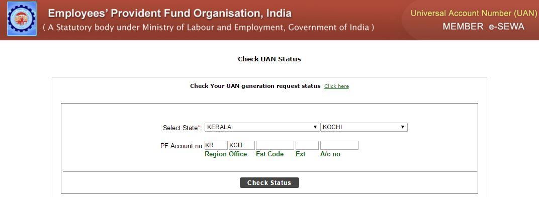 Check UAN Status