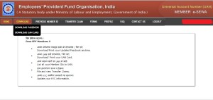 Check EPF balance at UAN Portal